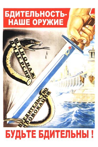 022. Советский плакат: Будьте бдительны!