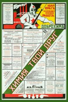 317. Советский плакат: Химия твой друг