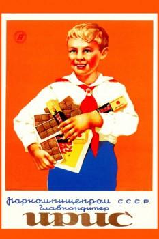545. Советский плакат: Ирис