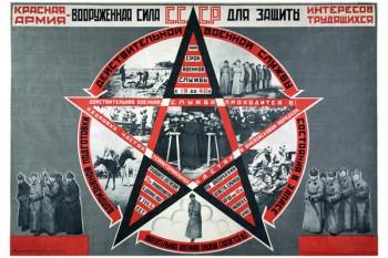 698. Советский плакат: Красная армия - вооруженная сила СССР...