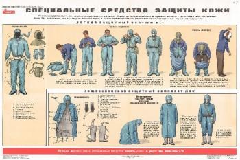 47. Плакат по гражданской обороне: Специальные средства защиты кожи