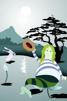 002. Детский плакат: Я - Водяной...