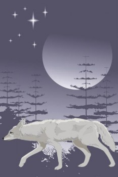 003. Детский плакат: Одинокий волк