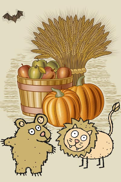 015. Детский плакат: Осенние фантазии
