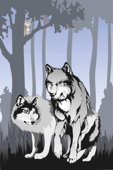 016. Детский плакат: Серые волки