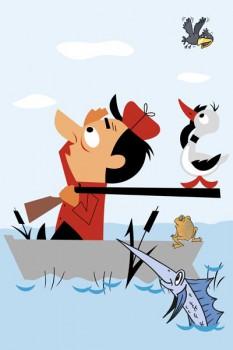 022. Детский плакат: Охотник...