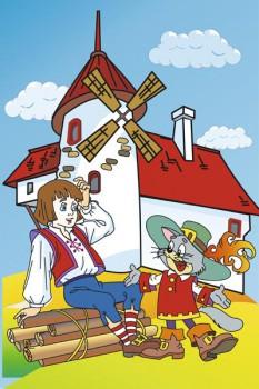 026. Детский плакат: Фантазия на тему: Кот в сапогах