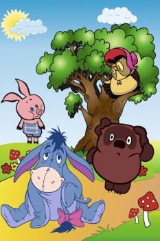 037. Детский плакат: Фантазия на тему: Винни пух