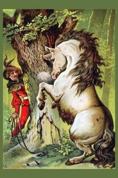 050. Детский плакат: Волшебный конь (по мотивам сказок Ш. Перро)
