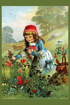 053. Детский плакат: Красная шапочка на поляне