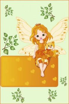 059. Детский плакат: Девушка с мишкой. Поздравление