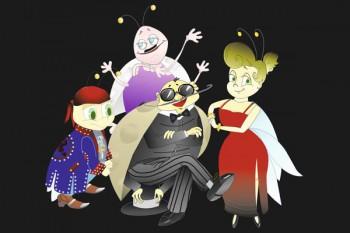075. Детский плакат: Дружная семья