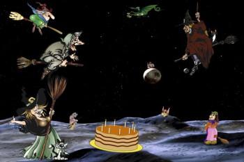 078. Детский плакат: Космический шабаш
