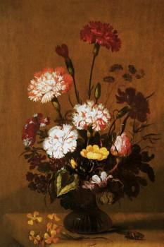010. Живопись: Цветы в стеклянной вазе, Мюнхен, 1640. Художник «Hans Bollongier»