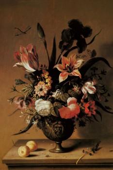014. Живопись. Цветы в бронзовой вазе. Художник Bosschaert the Younger, Ambrosius Flemish 1609-1645