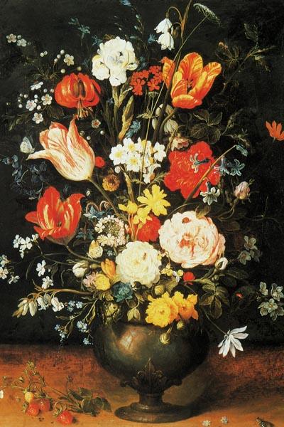 022. Живопись: Цветы в вазе из металла. Художник Jan Brueghel