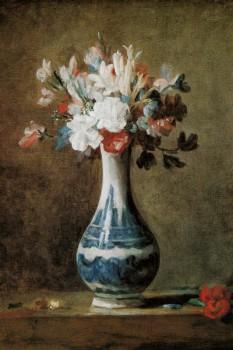 031. Живопись: Ваза с цветами, Жан Батист Шарден