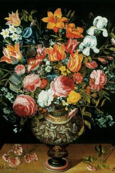 036. Живопись: Розы, тюльпаны, нарциссы, ирисы и другие цветы, Andries Daniels.