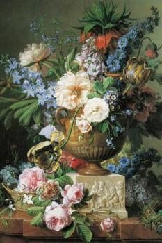 037. Живопись: Цветы в алебастровой вазе, Gerard Van Spaendonck