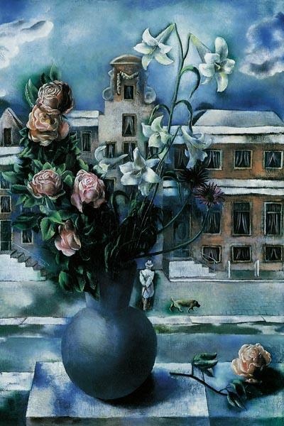 038. Живопись: Цветы на улице. Карел Виллинк