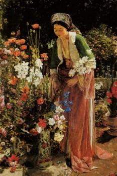 039. Живопись: В саду Бейс, 1865, Джон Фредерик Льюис