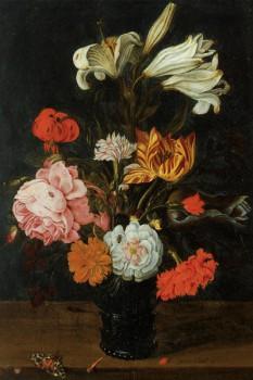 043. Живопись: Bouquet in a roemer, Jan Baptist van Fornenburgh