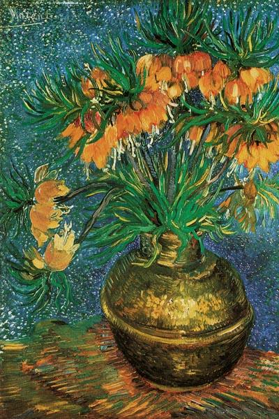 046. Живопись: Фритиллярии в медной вазе. Винсент Ван Гог