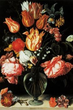 048. Живопись: Цветы в прозрачной вазе. Jacques de Gheyn