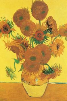 050. Живопись: Винсент Ван Гог. Пятнадцать подсолнухов в вазе, 1889