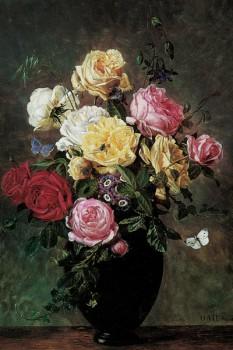 053. Живопись: Этюд с цветами в вазе, 1875