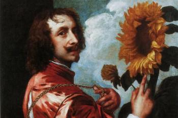 060. Живопись: Автопортрет с подсолнухом. Антонис Ван Дейк, сэр (1599-1641)