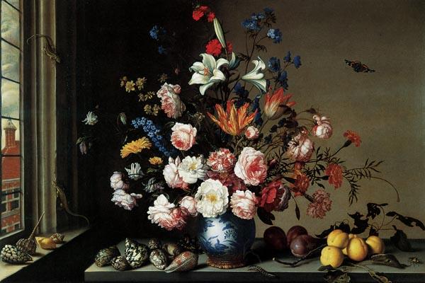 063. Живопись: Ваза с цветами у окна, 1650-е гг. Бальтазар ван дер Аст.