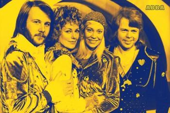 002. Постер: Шведский музыкальный квартет ABBA
