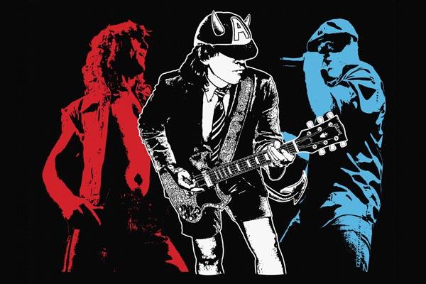 010-2. Постер: AC/DC на черном