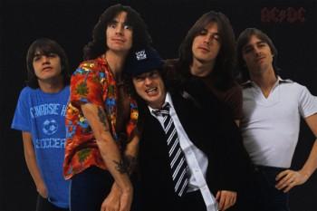 010-3. Постер: Группа AC/DC в 1979 году