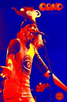 017-2. Постер: Daevid Allen - один из лидеров яркого представителя психоделического рока, группы Gong
