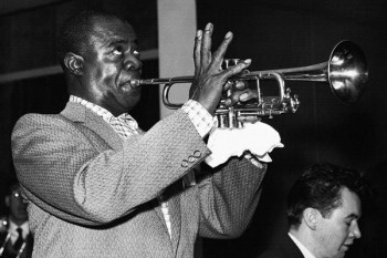 023. Постер: Louis Armstrong - американский джазовый трубач и вокалист
