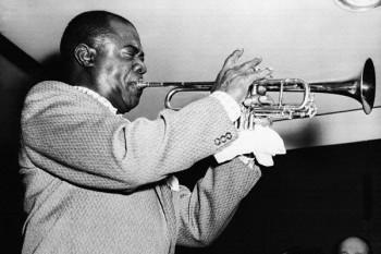 024. Постер: Louis Armstrong на репетиции