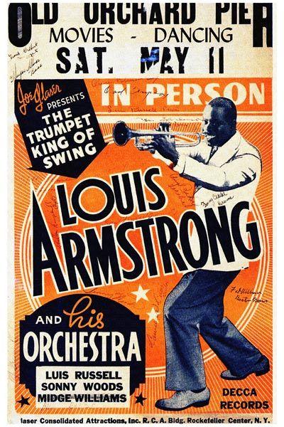 025. Постер: Louis Armstrong со своим оркестром