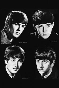 032. Постер: Портреты участников группы the Beatles