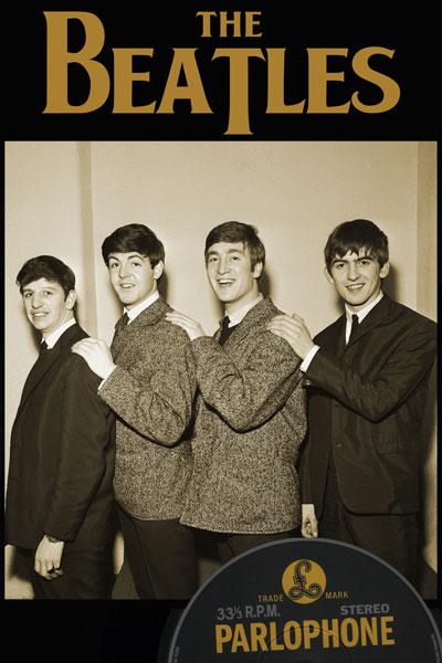046. Постер: The Beatles постер с виниловым диском