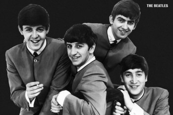 054. Постер: The Beatles в начале творческого пути
