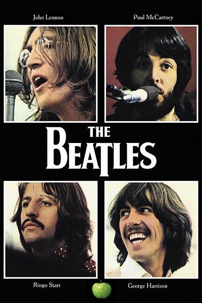 "057. Постер: The Beatles, The Beatles, плакат к альбому ""Let it be"""