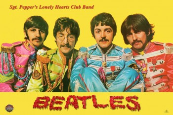 069. Постер: Вкладка к альбому the Beatles Sgt. Pepper's Lonely Hearts Club Band