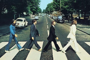 071. Постер: The Beatles на Abbey Road