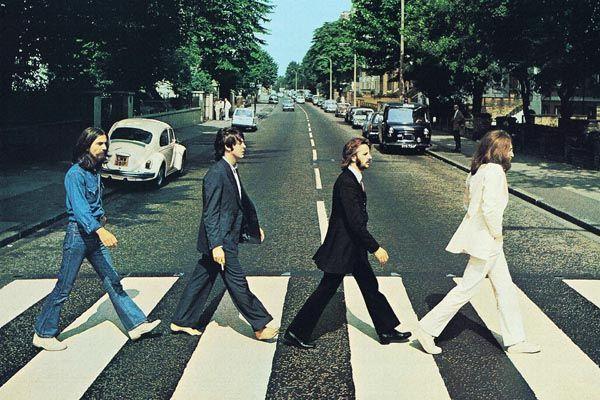 071. Постер: The Beatles на Abbey Road