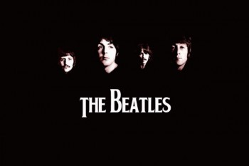 072-2. постер the Beatles на черном