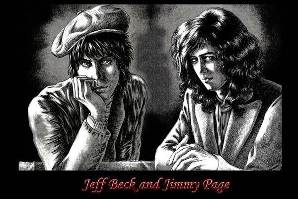 075. Постер: Jeff Beck и Jimmy Page