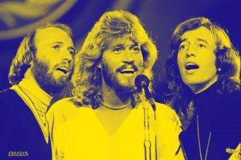 076-2. Постер: Bee Gees - один из самых успешных коллективов в истории музыкальной индустрии