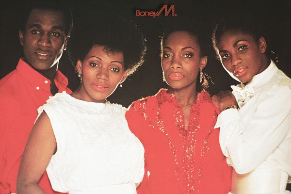 078. Постер: Boney M - диско-группа, созданная в 1975 году